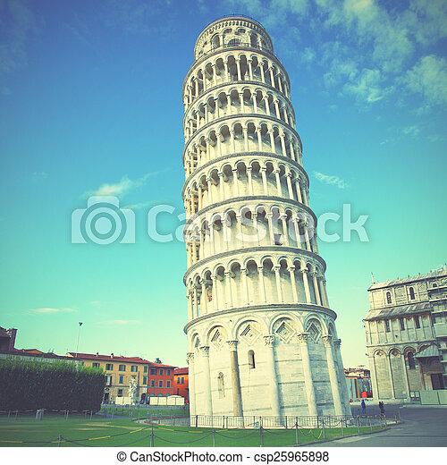 πύργος , pisa , κλίση  - csp25965898