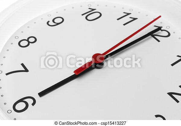 ρολόι , εκδήλωση , έξι , ζεσεεδ , τρέξιμο , φόντο , ώρα , άσπρο  - csp15413227