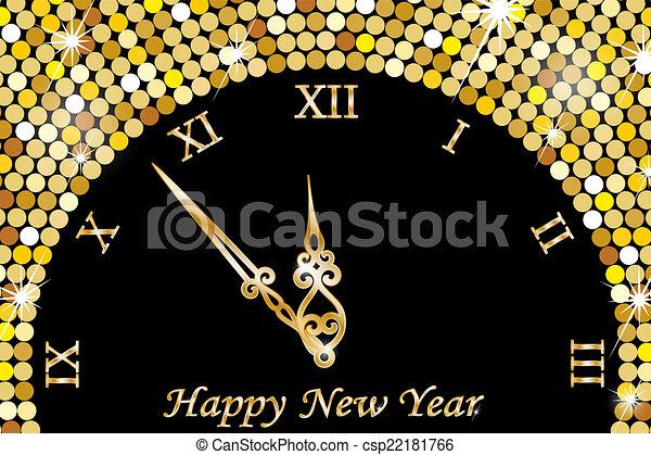 ρολόι , νέο έτος  - csp22181766