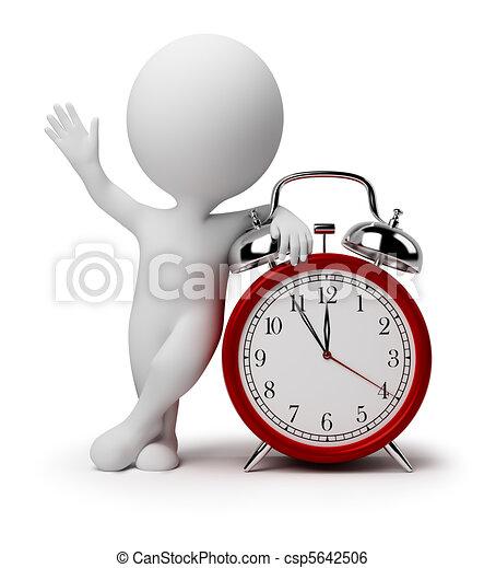 ρολόι , τρομάζω , άνθρωποι , - , μικρό , 3d  - csp5642506