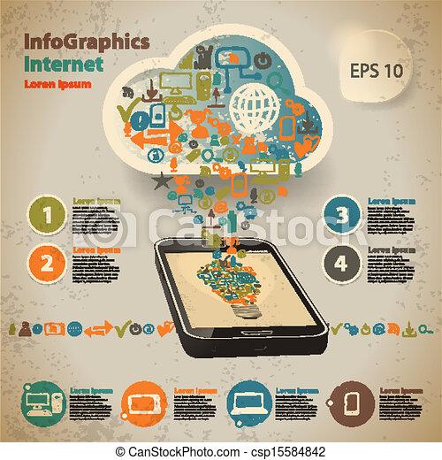 ρυθμός , ηλεκτρονικός υπολογιστής , κρασί , infographic, φόρμα , τεχνολογία , σύνεφο  - csp15584842