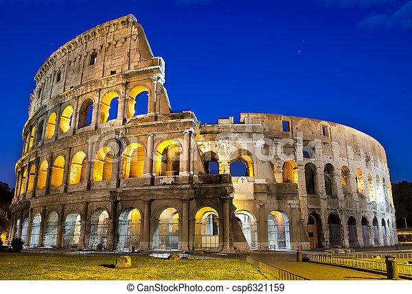 ρώμη , - , κολοσσαίο , λυκόφως  - csp6321159
