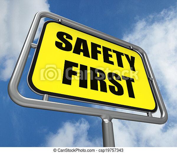 σήμα , ετοιμότητα , ασφάλεια , αποκαλύπτω , ασφάλεια , πρόληψη , πρώτα  - csp19757343