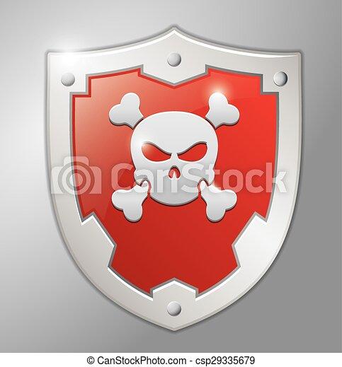 σήμα , κρανίο , κόκκινο  - csp29335679