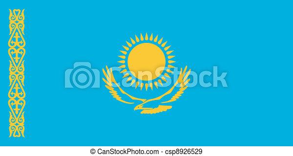 σημαία , μικροβιοφορέας , εικόνα , καζακστάν  - csp8926529
