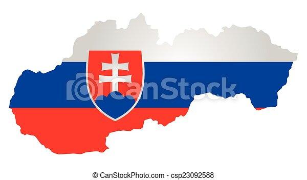 σημαία , slovakia  - csp23092588