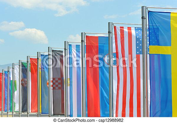 σημαίες  - csp12988982