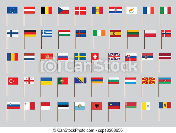 σημαίες , ευρωπαϊκός  - csp10263656