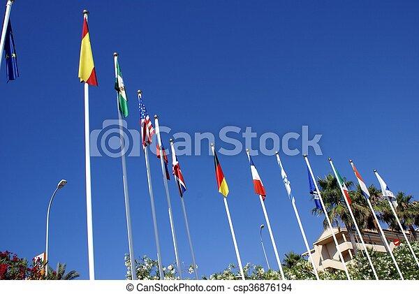 σημαίες  - csp36876194