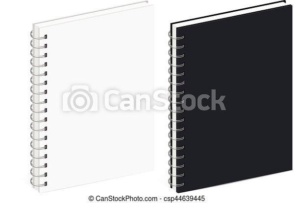 σημειωματάριο , ελικοειδής , φόρμα , κενό  - csp44639445
