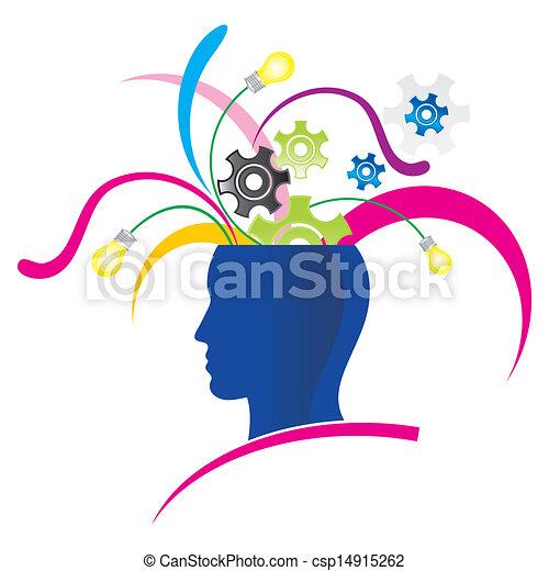 σκεπτόμενος , δημιουργικός  - csp14915262