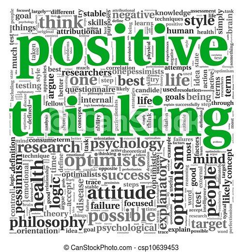 σκεπτόμενος , θετικός , γενική ιδέα , ετικέτα , σύνεφο  - csp10639453