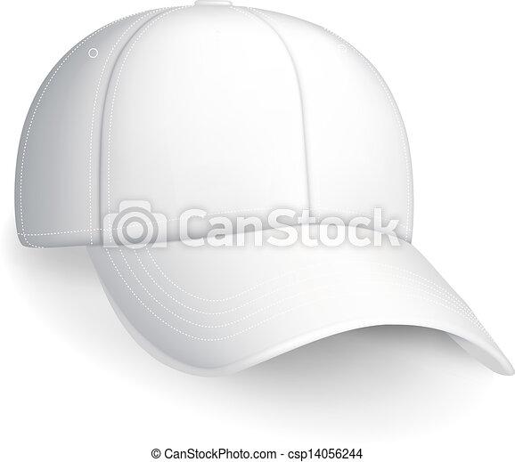 σκούφοs , άσπρο , μικροβιοφορέας , μπέηζμπολ  - csp14056244