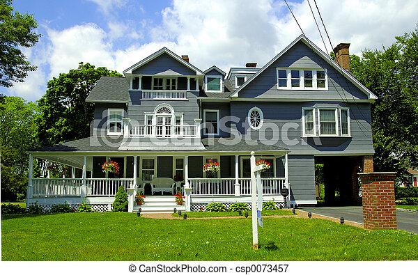 σπίτι , βικτωριανός αιχμηρή απόφυση  - csp0073457