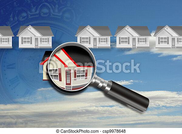 σπίτι , inspection. - csp9978648