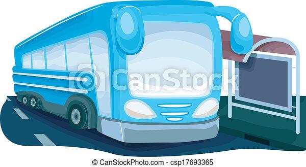 στάση λεωφορείου  - csp17693365