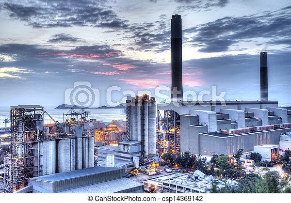 σταθμός ηλεκτρισμού  - csp14369142