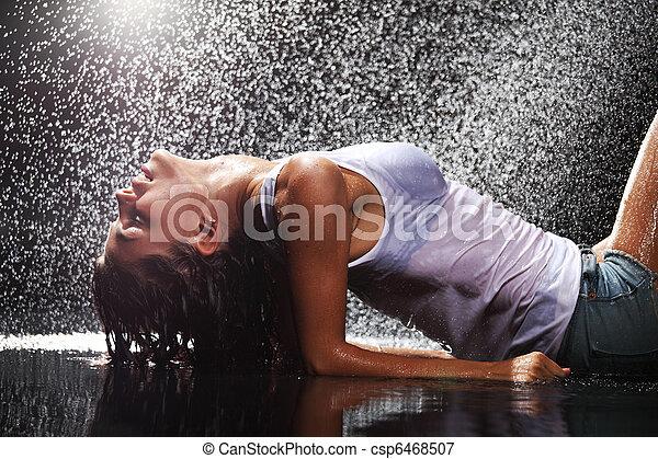 στούντιο , νερό , γυναίκα  - csp6468507