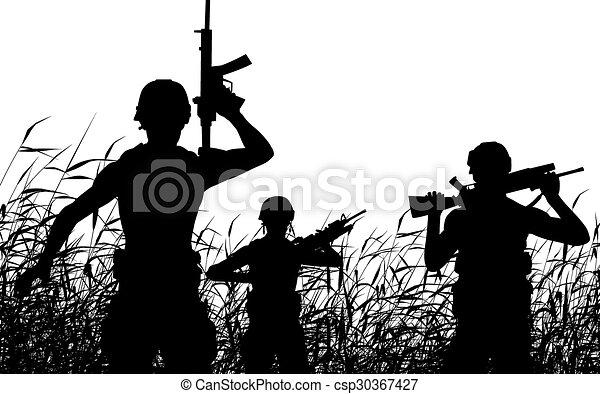 στρατιώτης , περιπολία , περίγραμμα  - csp30367427