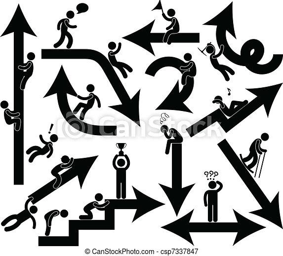 συγκίνηση , ακόλουθοι αρμοδιότητα , βέλος αναχωρώ  - csp7337847