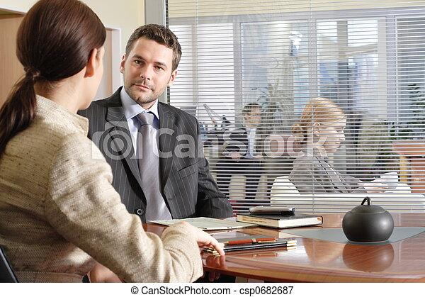 συνάντηση , επιχείρηση  - csp0682687