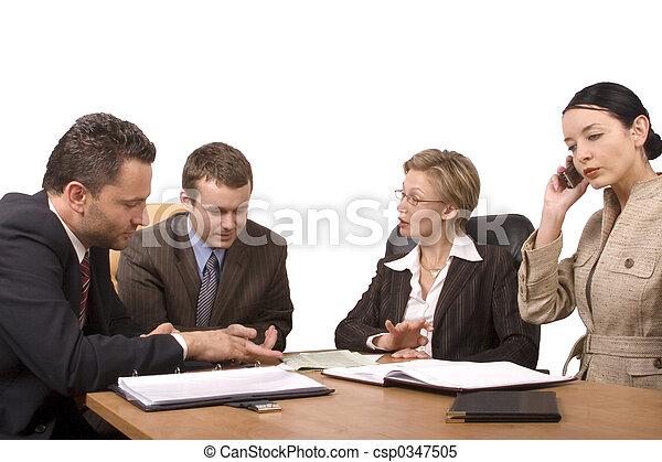 συνάντηση , επιχείρηση  - csp0347505