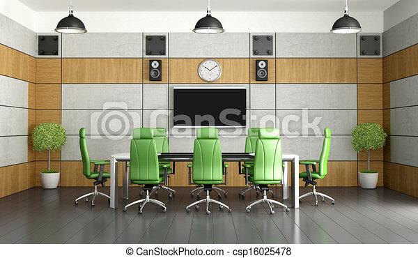 συνάντηση , σύγχρονος , δωμάτιο  - csp16025478