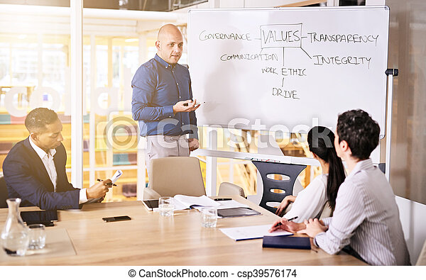 συνέδριο , σύνολο , δωμάτιο , επιχείρηση , εταιρεία , brainstorming , αξία , στελέχη  - csp39576174