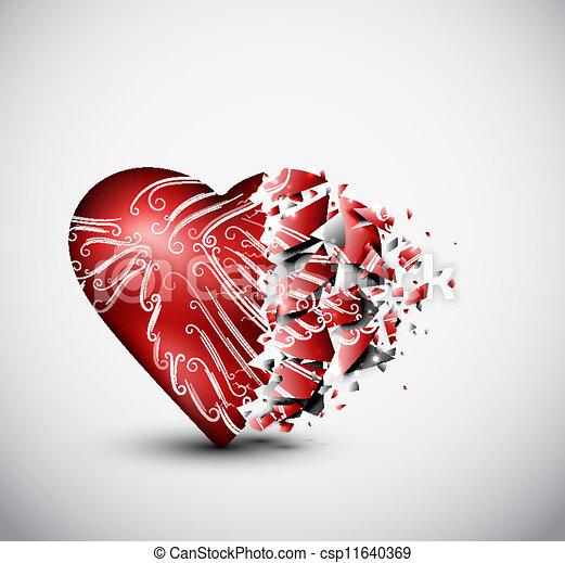συντετριμμένη καρδιά  - csp11640369