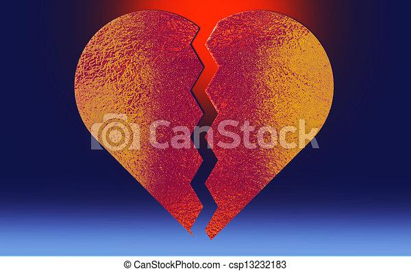 συντετριμμένη καρδιά  - csp13232183