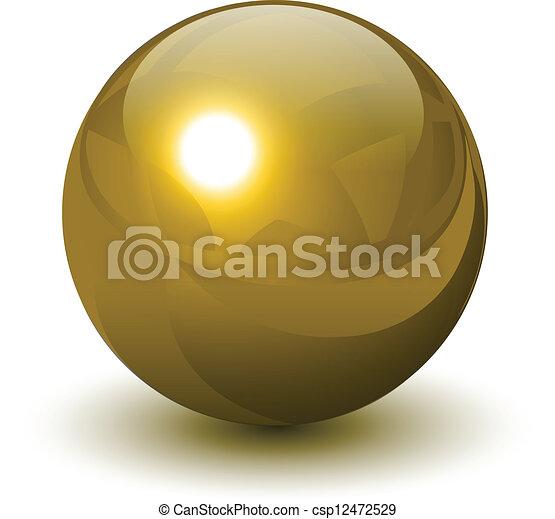 σφαίρα , χρυσός  - csp12472529