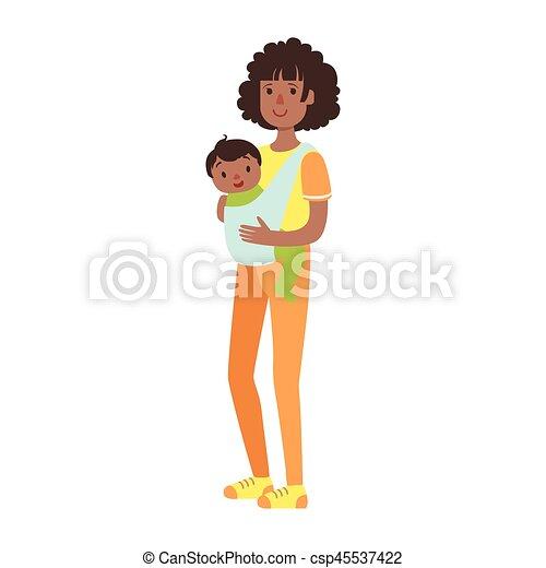 σφεντόνα , ειδών ή πραγμάτων , σειρά , νέος , εικόνα , υιόs , μητέρα , μωρό , ευτυχισμένος , τρυφερός  - csp45537422