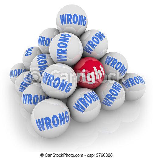 σωστό , προαίρεση , εναλλακτικά , εκλεκτός , λάθοs , μπάλα , αξίνα , καλύτερος  - csp13760328