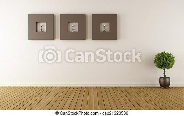 σύγχρονος , άδειο δωμάτιο  - csp21320530
