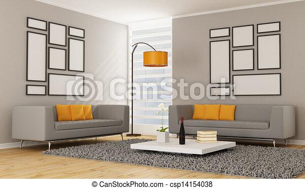 σύγχρονος , δωμάτιο , ζούμε  - csp14154038