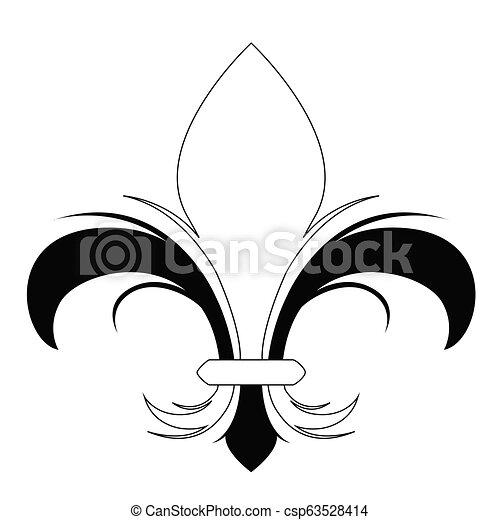 σύμβολο , de , fleur , lys - csp63528414