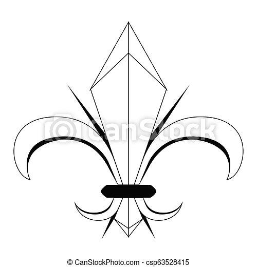 σύμβολο , de , fleur , lys - csp63528415