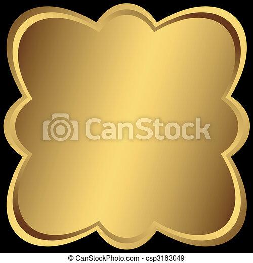 σύμετρος , χρυσαφένιος , κορνίζα , μεταλλικός  - csp3183049