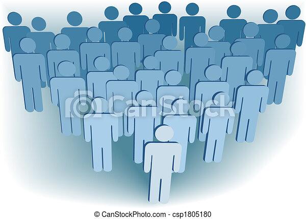 σύνολο , άνθρωποι , εταιρεία , ή , εκκλησίασμα , πληθυσμός , σύμβολο , 3d  - csp1805180