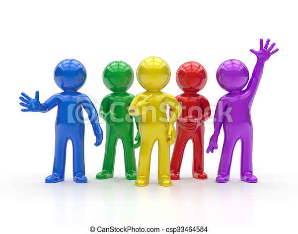 σύνολο , άνθρωποι , - , μικρό , καλύτερος , 3d  - csp33464584