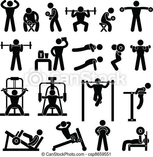 σώμα αναπτύσσω , γυμναστήριο , γυμνάσιο  - csp8659551
