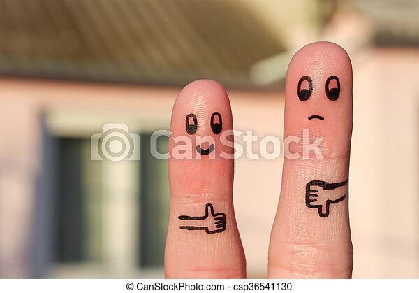 τέχνη , δάκτυλο , ανδρόγυνο.  - csp36541130