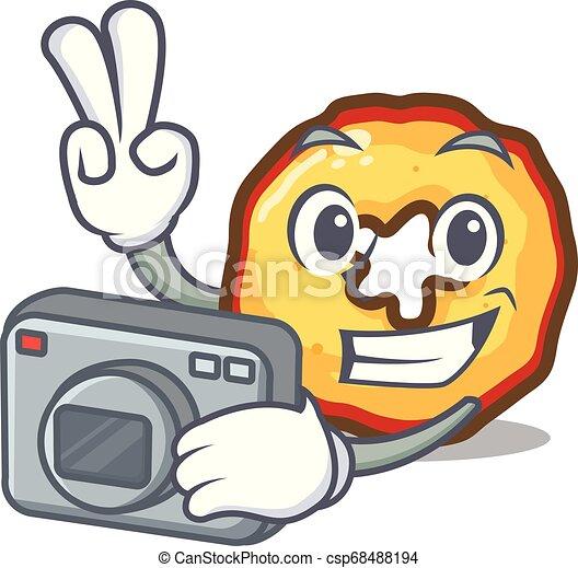 ταμπλώ , απονέμω , φωτογράφος , χαρακτήρας , τηγανητέs πατάτεs , μήλο  - csp68488194