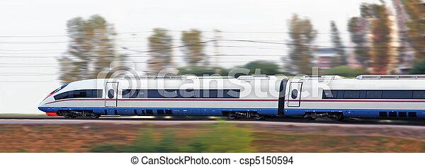 ταχύτατο τραίνο , μοντέρνος  - csp5150594