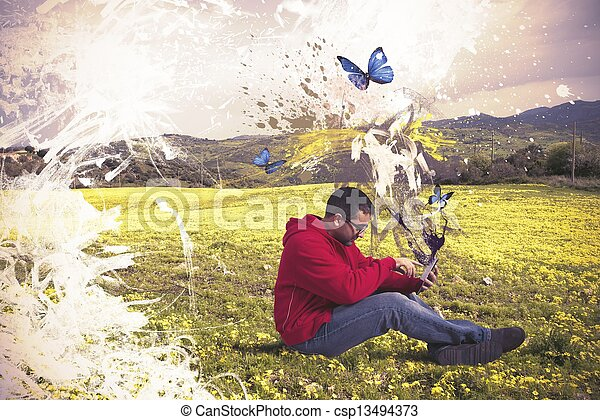 τεχνολογία , δημιουργικός  - csp13494373