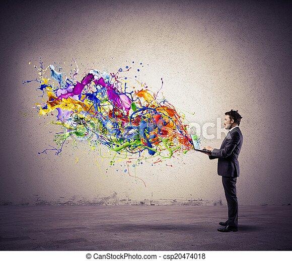 τεχνολογία , δημιουργικός  - csp20474018
