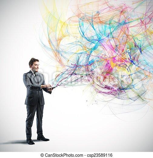τεχνολογία , δημιουργικός  - csp23589116