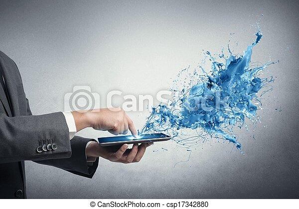 τεχνολογία , δημιουργικός  - csp17342880