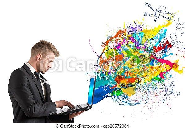 τεχνολογία , δημιουργικός  - csp20572084