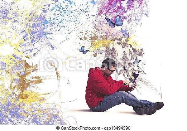 τεχνολογία , δημιουργικός  - csp13494390